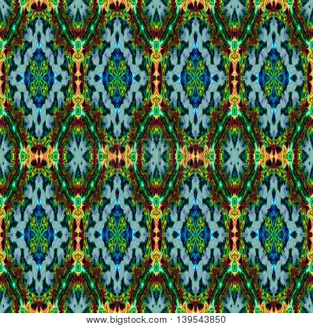 Abstract decorative multicolor (blue, green, red) texture - kaleidoscope pattern