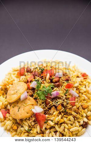 Bhel or Bhelpuri, popular indian roadside snack item