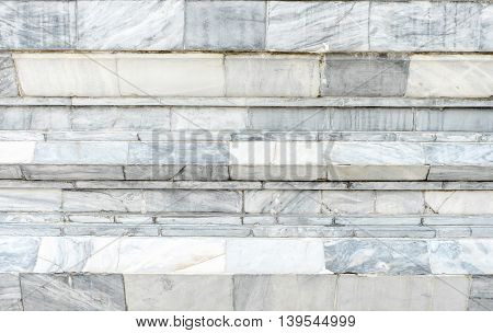 close up layer of marble white wall block