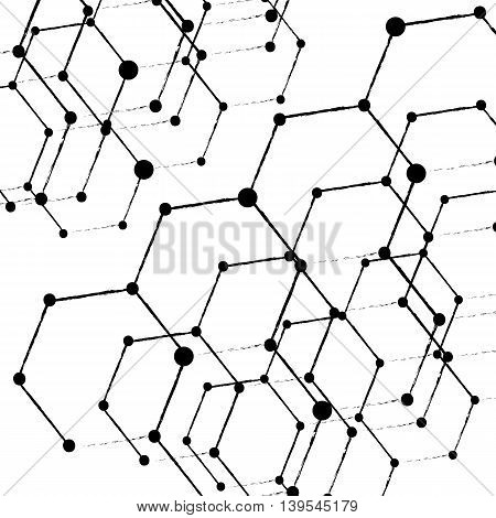 Abstract low poly white bright technology vector background. eps10 vector illustration