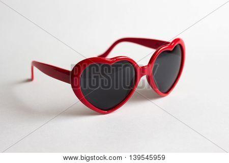Red Heart Shape Glasses Lolita Style