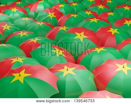 Umbrellas With Flag Of Burkina Faso