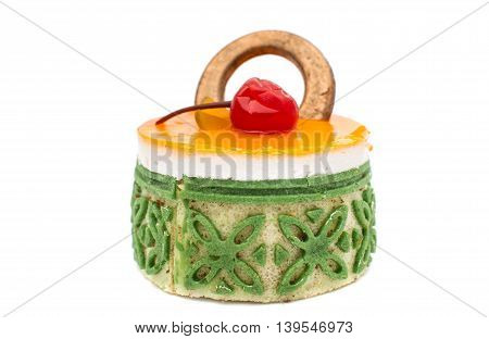 cake muffin idessert  isolated on white background