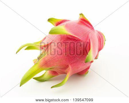Dragon fruit or pitaya on a white background