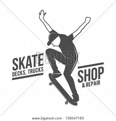 Vintage biking and skating logo, badges, design elements and labels.