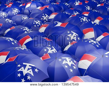 Umbrellas With Flag Of French Southern Territories
