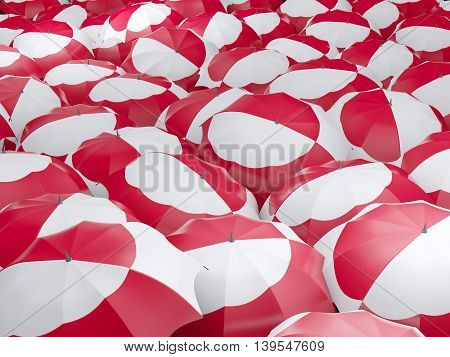 Umbrellas With Flag Of Greenland