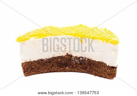 cake sugar dessert isolated on white background