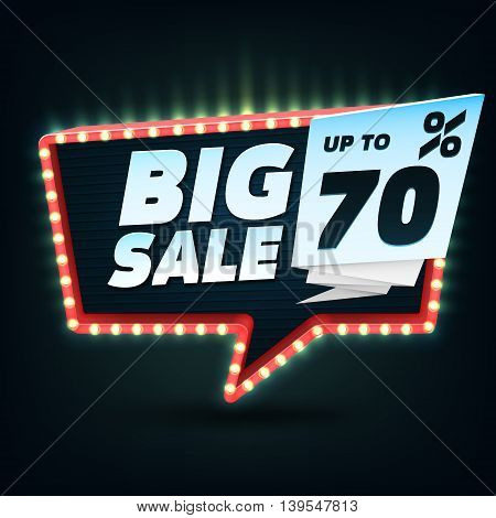 Big Sale Banner. Big Sale Banner Template