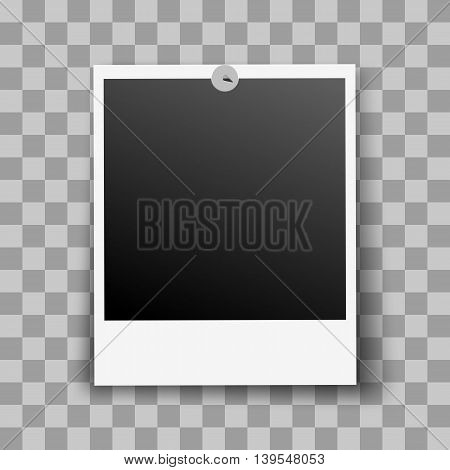 Photo Frame Fixed and Metal Pin with Transparent Shadow Effect
