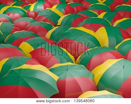 Umbrellas With Flag Of Lithuania