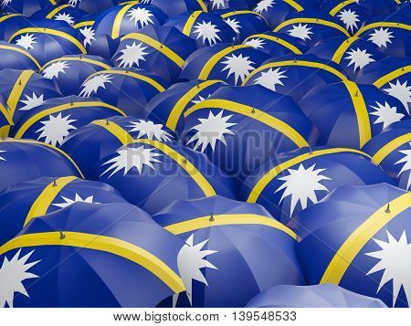 Umbrellas With Flag Of Nauru