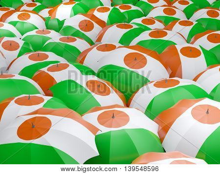 Umbrellas With Flag Of Niger