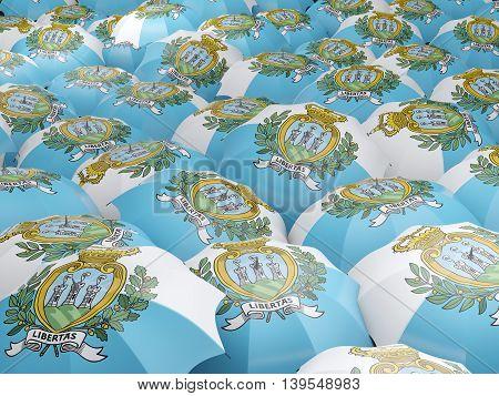 Umbrellas With Flag Of San Marino