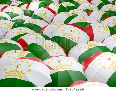 Umbrellas With Flag Of Tajikistan