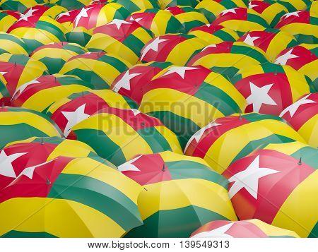 Umbrellas With Flag Of Togo
