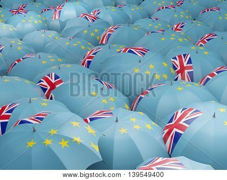 Umbrellas With Flag Of Tuvalu