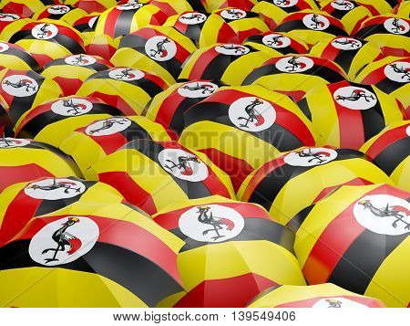 Umbrellas With Flag Of Uganda