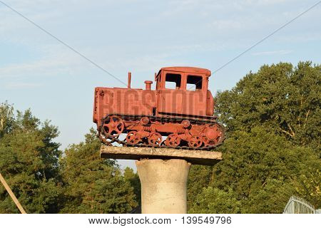 Tractor On A Pedestal