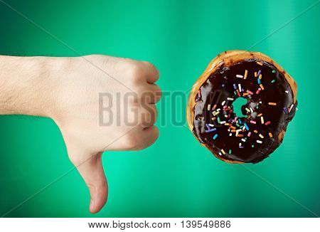 Thumb Down To Donut