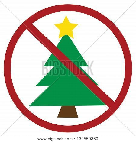 No Merry Christmas Anti Tree Holiday Sign