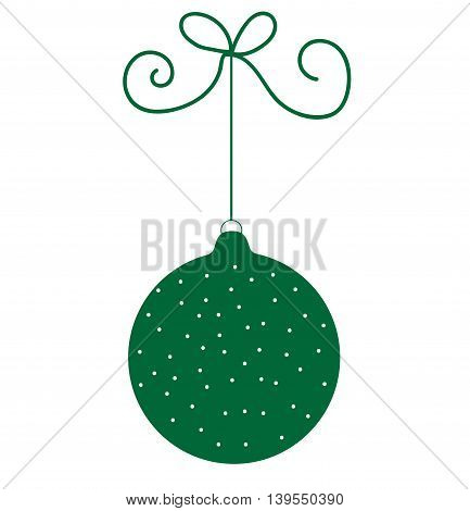 Green Merry Christmas Ornament Decoration for Holiday