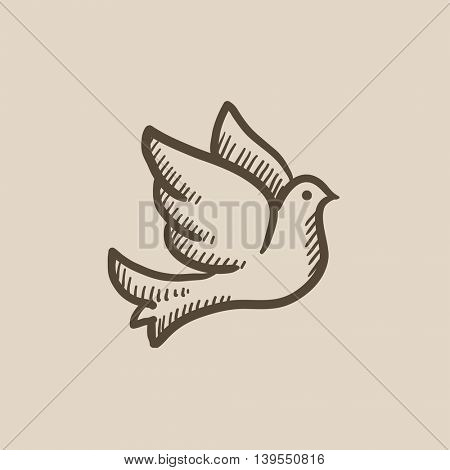 Wedding dove vector sketch icon isolated on background. Hand drawn Wedding dove icon. Wedding dove sketch icon for infographic, website or app.