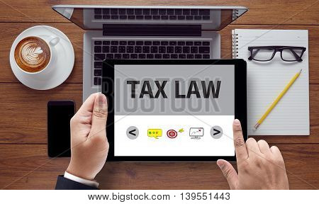 Tax Law Business Concept