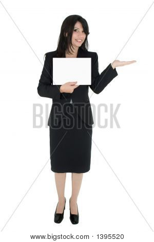 Woman Marketing A Product