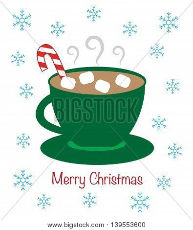 Merry Christmas Happy Holidays Winter Hot Chocolate