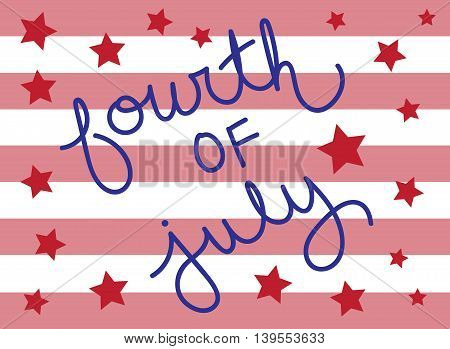 Fourth of July Stars and Stripes Holiday