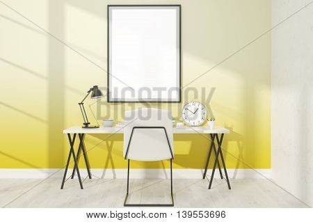 Yellow Study With Poster