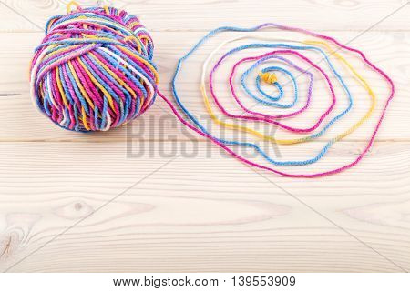 Colorful Bundle With Woven Thread