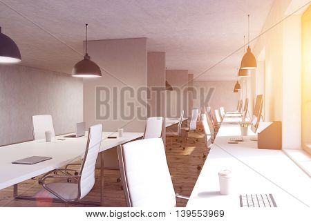 Coworking Office With Numerous Desks