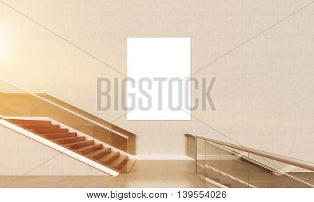 Lobby Staircase With Poster
