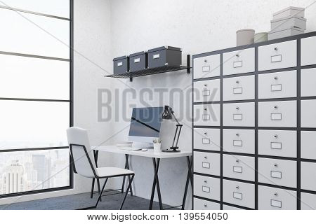 Cosy Workplace In Clean Office