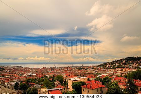 Storm Over The City Of Trieste