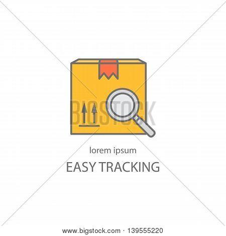 Cargo cargo tracking logotype design templates. Modern easy to edit logo template. Vector design series.