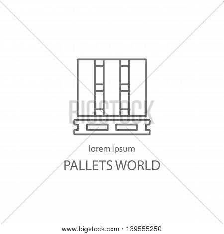Wood pallets logotype design templates. Modern easy to edit logo template. Vector logo design series.