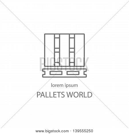 Wood pallets logotype design templates. Modern easy to edit logo template. Vector logo design series.