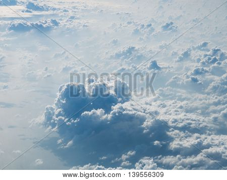 Cloudscape, White Cloud On The Sky