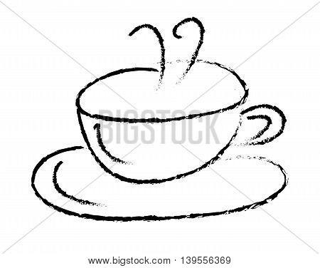 Hot Coffee Tea Cup Mug with Steam