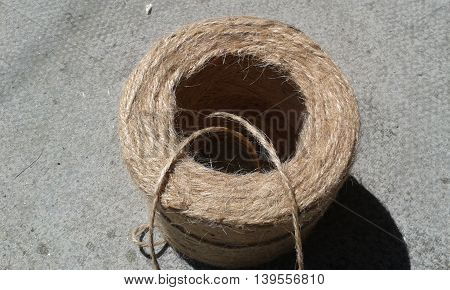 Bundle roll of brown garden and craft twine