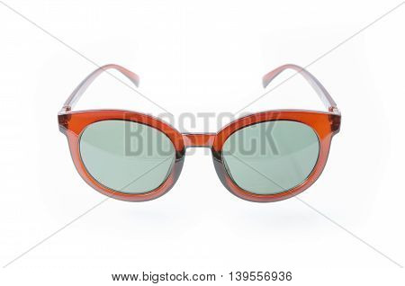 Fashion Glasses Style Plastic-framed  On White Background, Sunglasses..