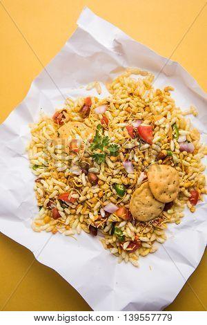 Bhel or Bhelpuri, popular indian Chat item