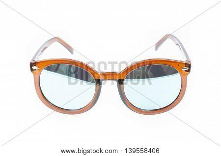 Fashion Glasses Style Plastic-framed Isolated On White Background, Sunglasses..