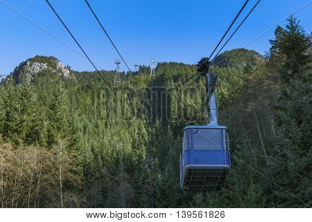 A shot of small gondola at the base