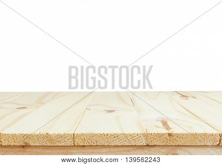 wooden table or mock up platform for interior decoration design or advertising decoration with wooden table texture background