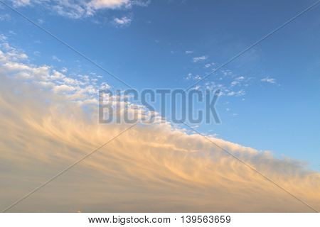 Sky, blue sky, blue sky and clouds, beautiful blue summer sky, blue sky and clouds, sunset