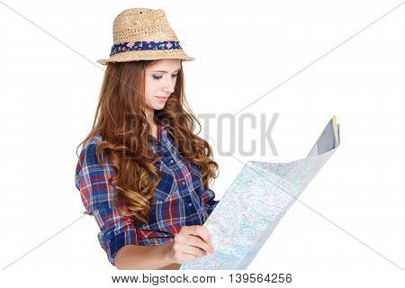Woman  With The Map